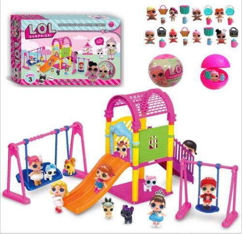 LOL Surprise Doll Mädchen Park Haus Spiel Slide Spielset Baby Kinder Geschenk