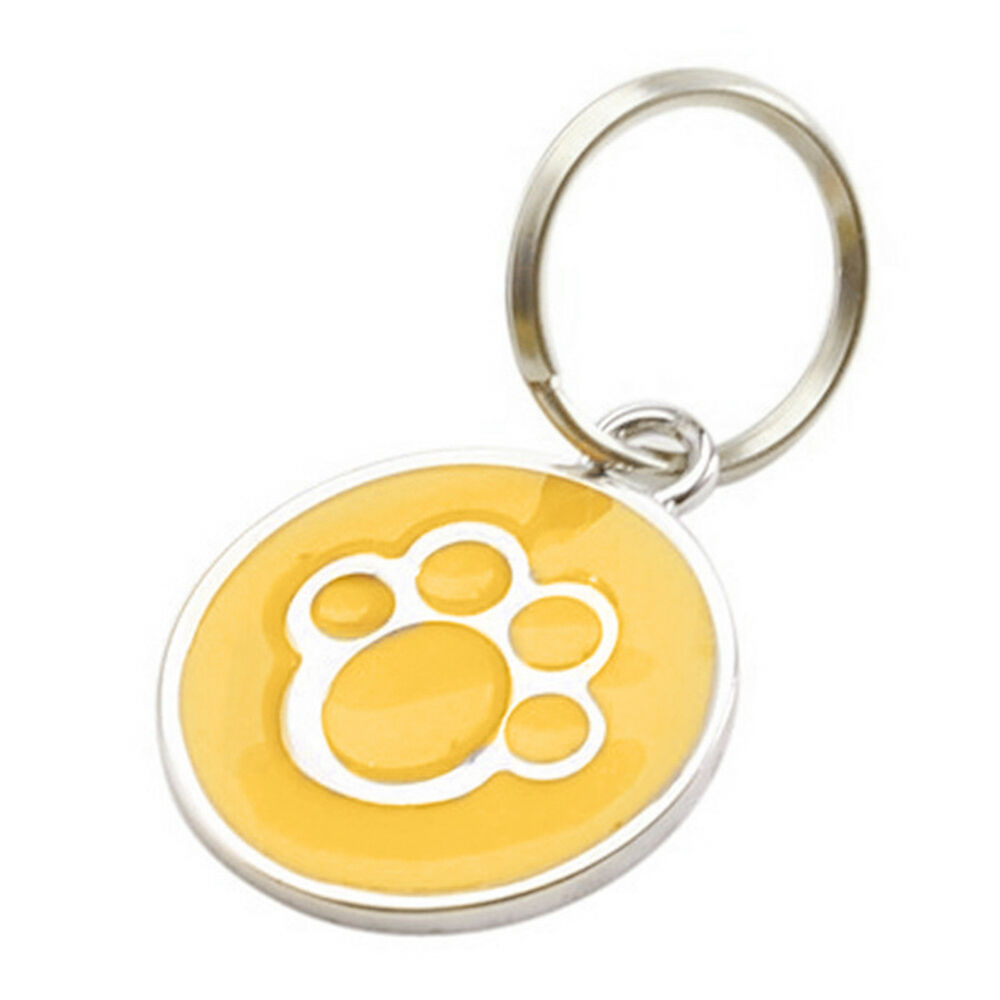 QA_ Anti-lost ENGRAVING Dog Cat ID Name Tag Disc Personalised Puppy Pet Tags E 9