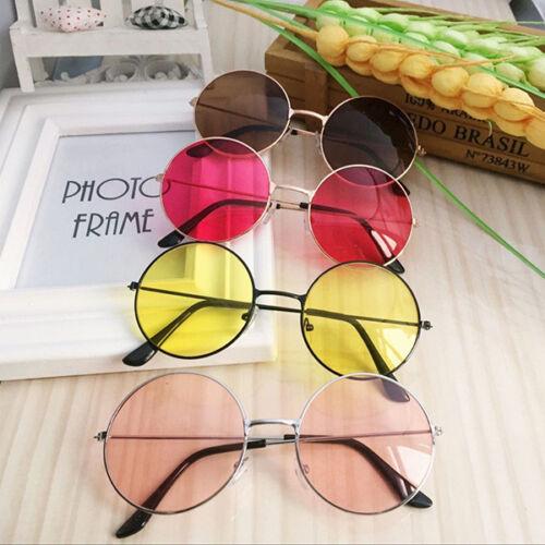 Women Retro Round Plastic Fashion Glasses Lens Sunglasses Eyewear Frame Glasses 2
