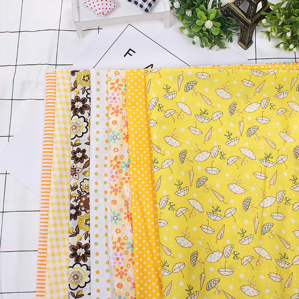 Cn_7pz Patchwork Floreale Tessuto di Cotone Tinta Unita Panno per Fai da Te 7