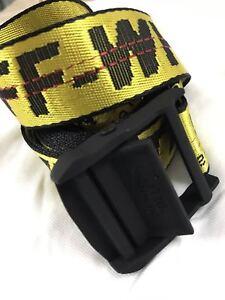 Cintura cravatta industriale off white Fibbia in-ferro giallo in 100-200CM 4