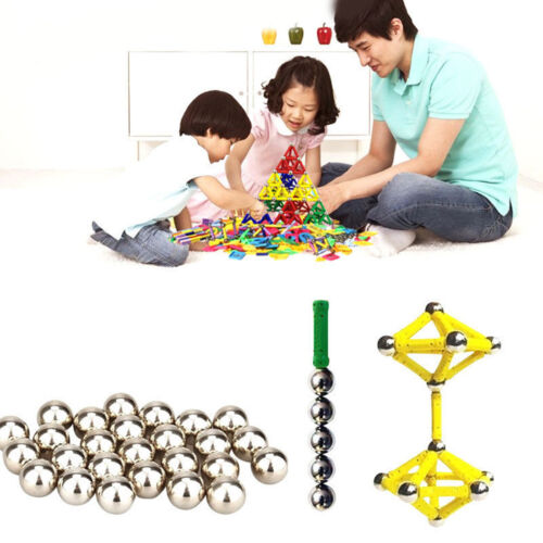 103Pcs Educational Magnetic Construction Sticks Building Blocks Toy Set Kid Gift 5