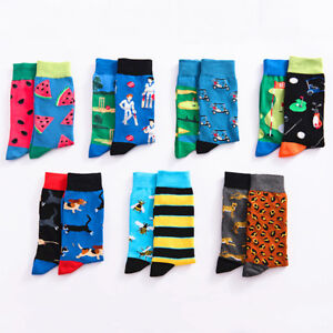 23 Style Mens Funny Novelty Socks Crazy Cute Cool Cotton Food animal Crew Socks 2