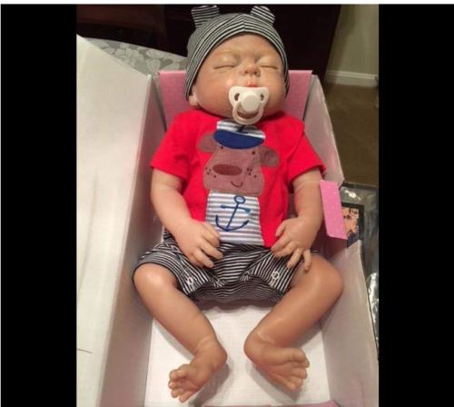 22'' Reborn Baby Dolls Realistic Cute Newborn Doll Lifelike Bebe Xmas Gift 6
