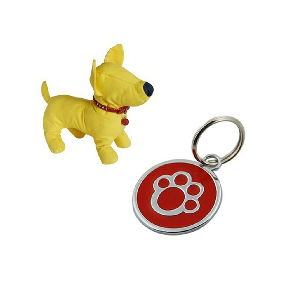 QA_ Anti-lost ENGRAVING Dog Cat ID Name Tag Disc Personalised Puppy Pet Tags E 3