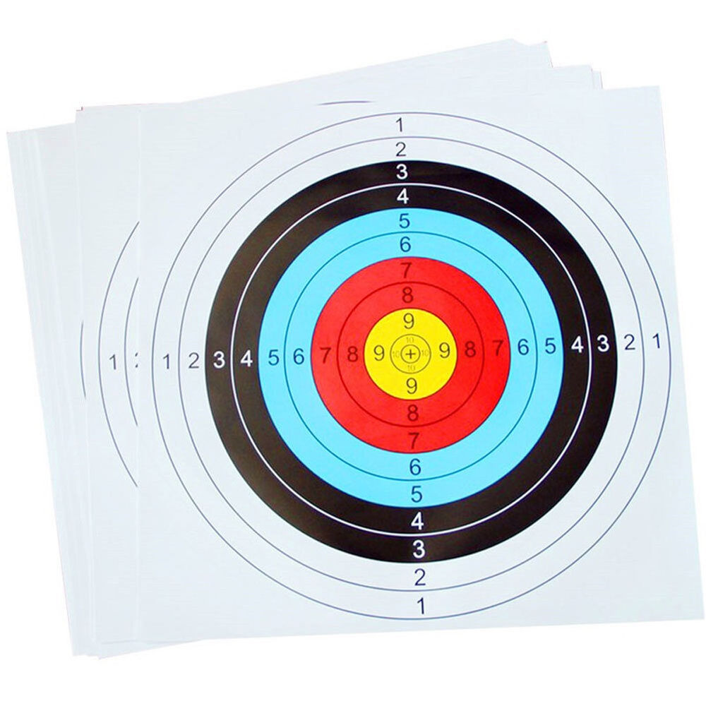 10pcs Creative Archery Target Paper Face for Arrow Bow Shooting Hunting UK