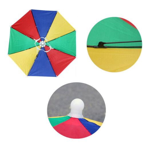 e71c9bac3474a 5 of 7 Outdoor Foldable Sun Umbrella Hat Golf Fishing Camping Headwear Cap  Head Hat