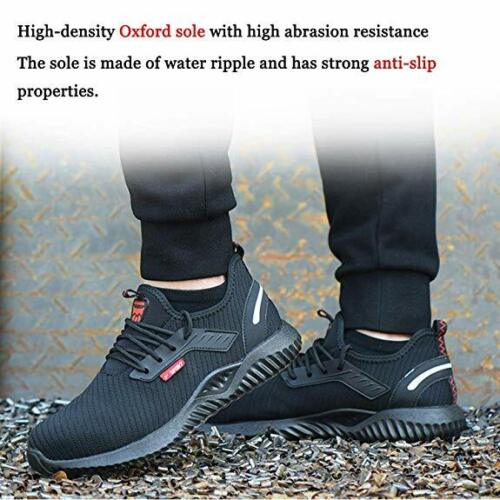 UK Safety Shoes for Men Women Steel Toe Trainers Lightweight Work Shoes Sports 6