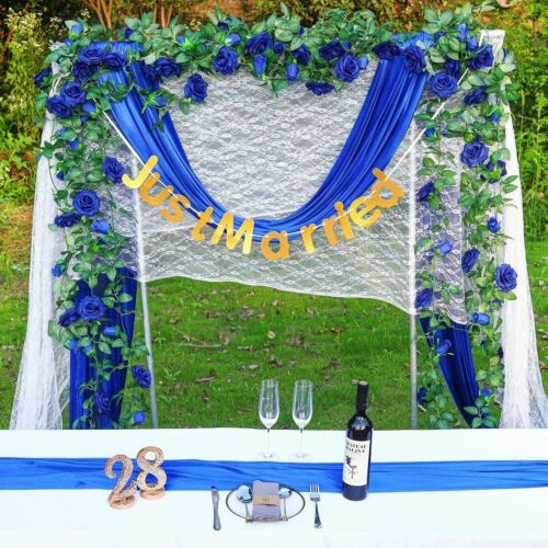 Hanging Artificial Rose Garland Silk Flower Ivy Vine Garland Wedding Home DecoNA 4