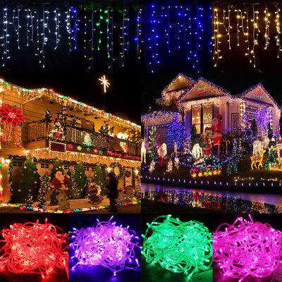 Weihnachtsbeleuchtung Aussen Schneefall.Eiszapfen Led Lichterkette Eisregen Schneefall Vorhang Innen Außen Party Deko