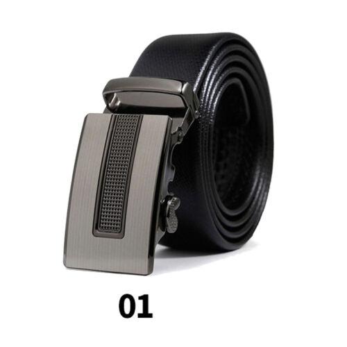 e61e31bd1630a0 Herren Gürtel Ratsche Automatik Gürtel für Männer 35mm Breit Ledergürtel 7  7 von 12 ...