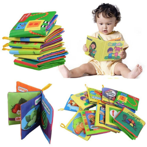 Soft Cloth Book Gift Interactive Books for Newborn Baby Educational Learning Toy 3