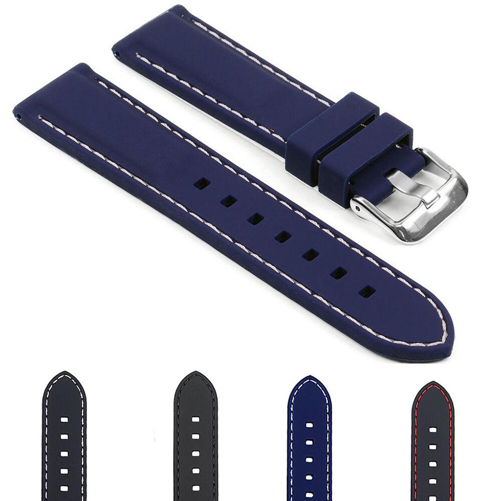 Lc_ Morbido Silicone Cinturino Per Orologio Fibbia Ricambio Fascia Deli