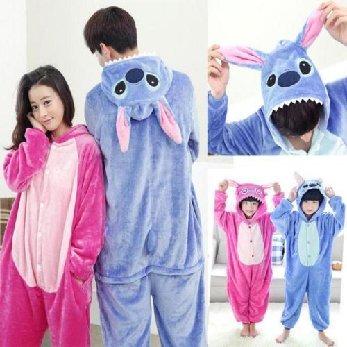 Kigurumi Pijama Unisex Ropa de noche vestido Cosplay Animal Onesie Stitch 2
