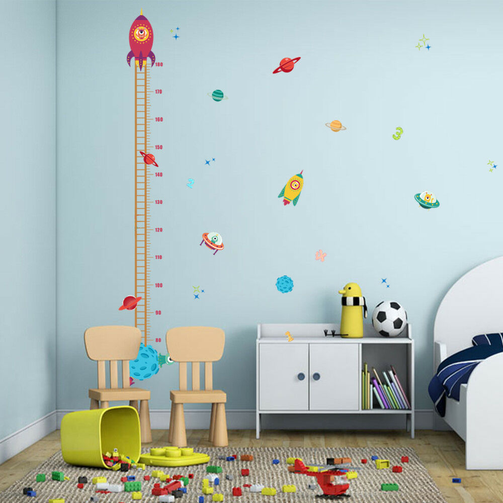 3 Of 11 FH  Children Height Growth Chart Measure Wall Sticker Kids Room  Animal Decal Exo