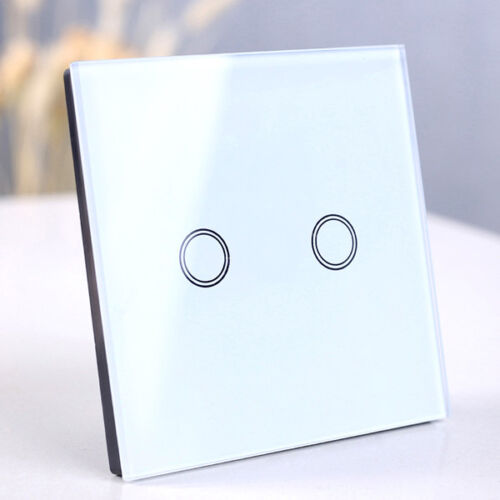 Smart 1/2/3 Gang EU Panel Glass Touch LED Light Switch Wifi,Remote,Dimmer Switch 11