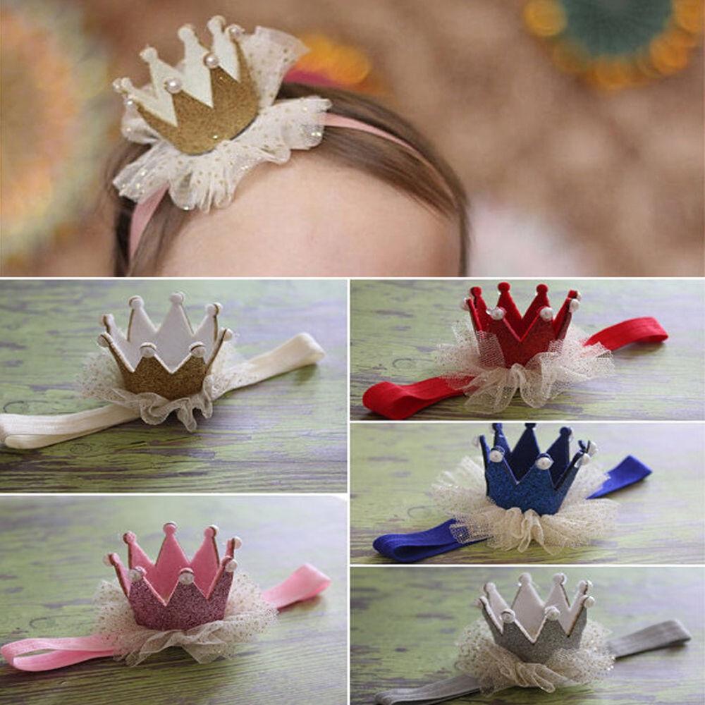 Am_ Kids Baby Girl Toddler Lace Crown Hair Band Headwear Headband Accessories Ni 3