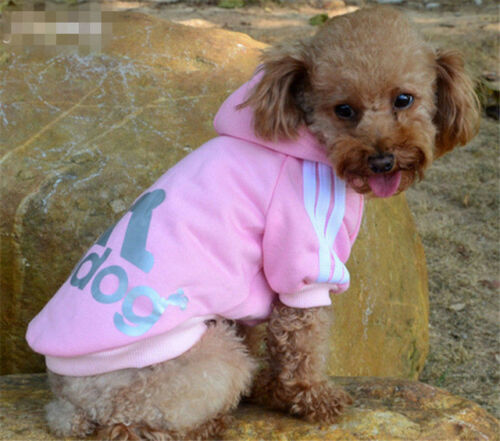 New XS-3XL Pet Winter Coat Dog Warm Clothing Casual Cat Puppy Hoodie Sweater 8