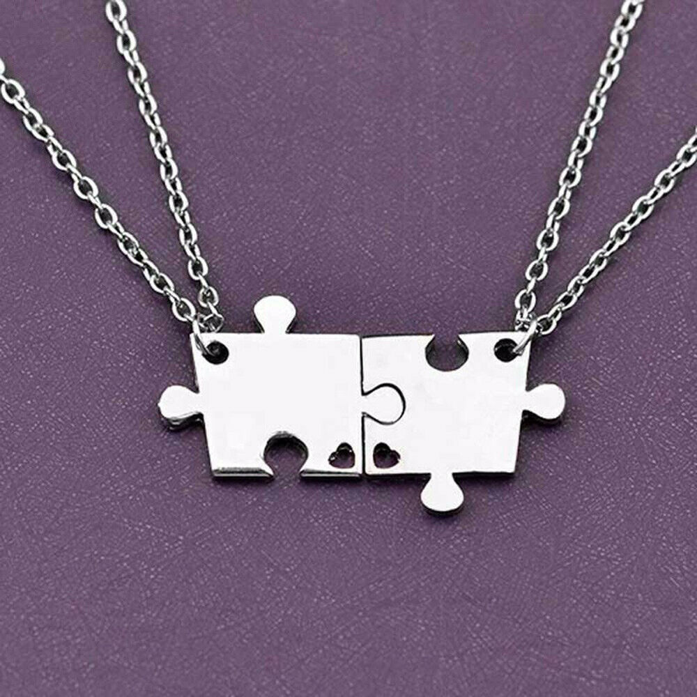 4 Best Friend Forever And Ever Jigsaw Puzzle Pendant Necklace Friendship Boil
