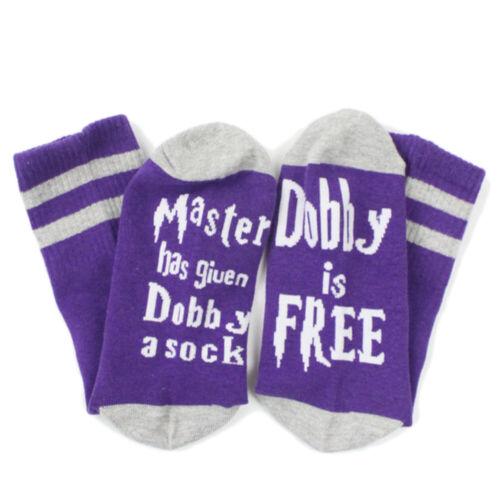 """Dobby is free/"""" D0E6 Unisex  Dobby Socks Master has given Dobby a sock"""