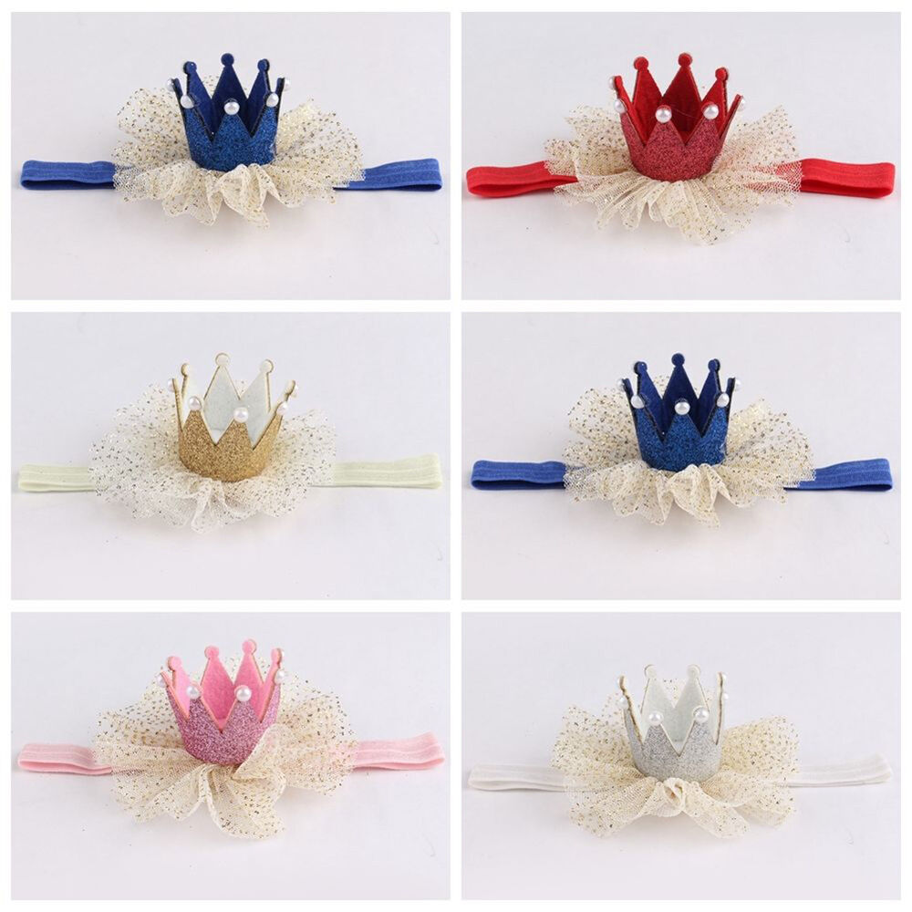 Am_ Kids Baby Girl Toddler Lace Crown Hair Band Headwear Headband Accessories Ni 9