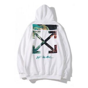 OFF White Herren Druck Hoodie Farbpfeil Sweatshirt Farbe Mode Paar Sweatshirt DE