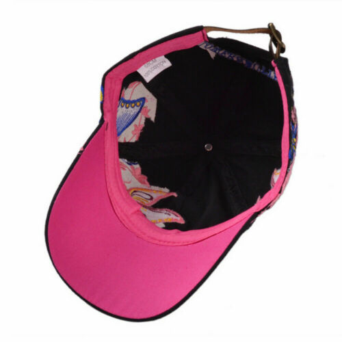 AKIZON Baseball Cap For Women With Butterflies And Flowers Embroidery Adjustable 3