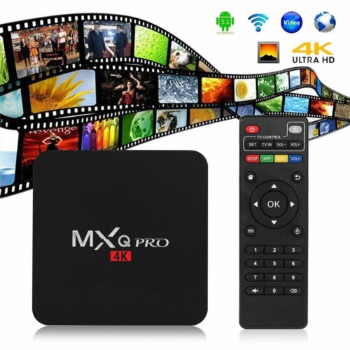 S905W MXQ Pro 4K  64-bit Android 7.1 DDR4 3D Smart TV HD Box 17.6 +Mini KEYBOARD 3
