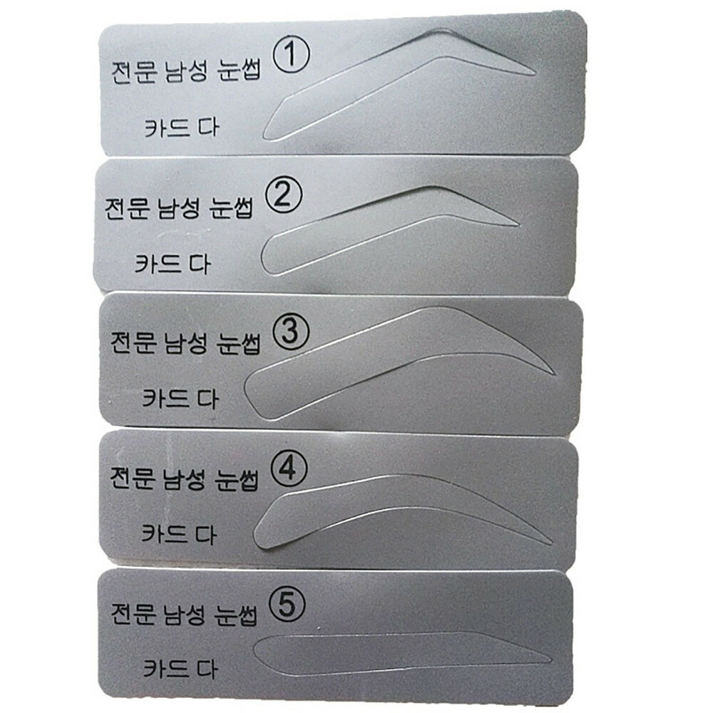Co 5pc Eyebrow Template Stencils Brow Grooming Card Trimming 1 Of 5free Shipping Shaping Beauty Too