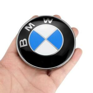 2PCS Front Hood & Rear Trunk (82mm & 74mm) FOR BMW Badge Emblem 51148132375 3