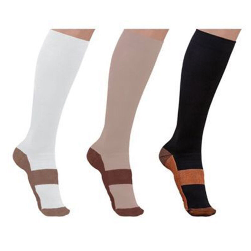 BL_ Copper Infused Compression Socks 20-30mmHg Graduated Men's Women's S-XXL Coo 2