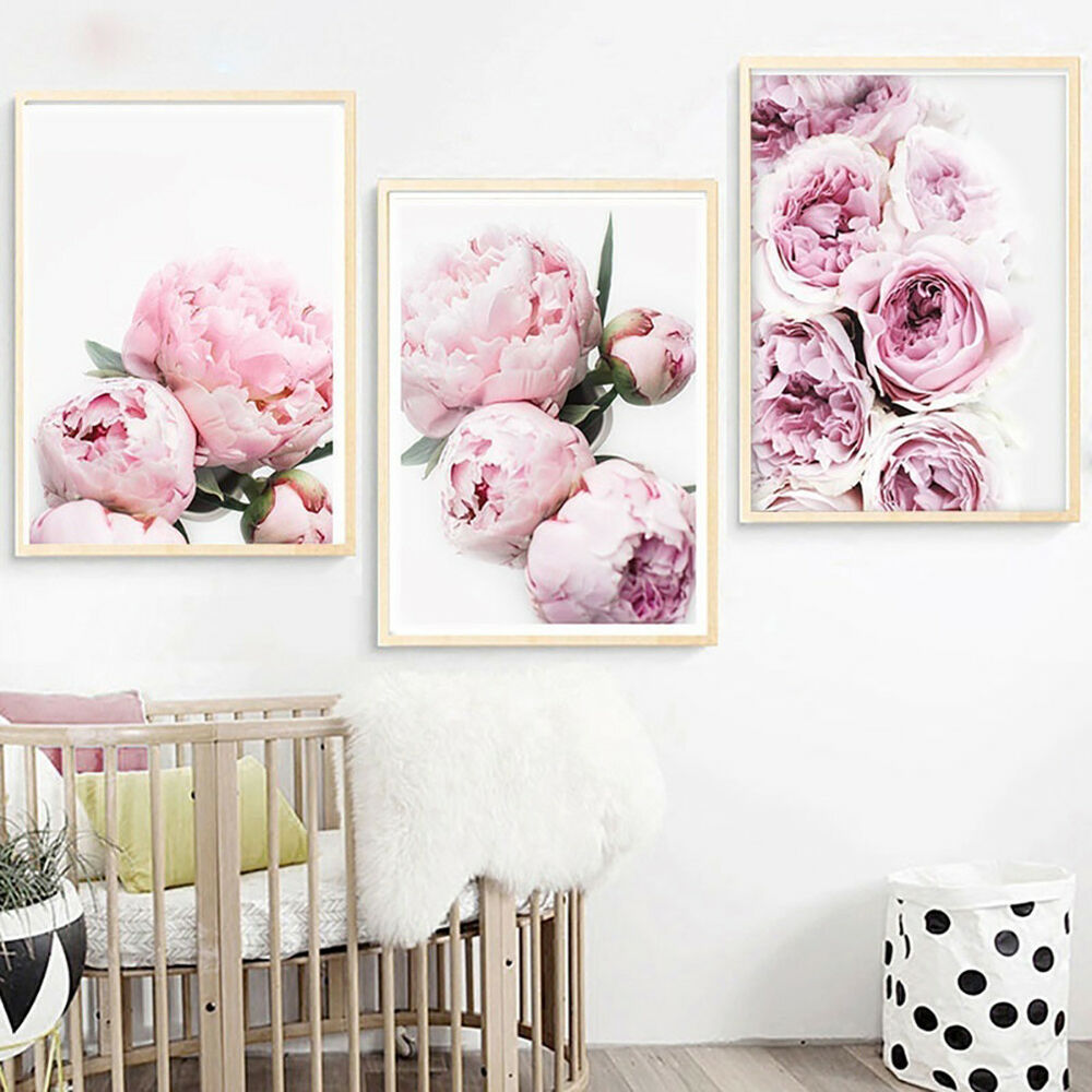 Unframed Modern Peony Art Canvas Painting Picture Print Home Wall Decor Opulent 6