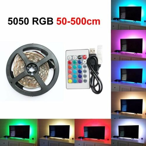 USB Powered RGB LED Strip Light Backlight for LCD TV PC Computer Case Monitor 5V 2