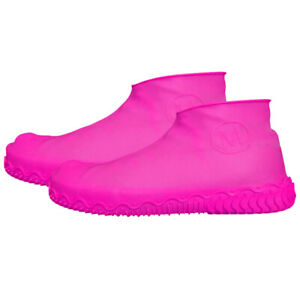 1Pair Silicone Rain Waterproof Shoe Covers Reuse Boot Cover Protector 8