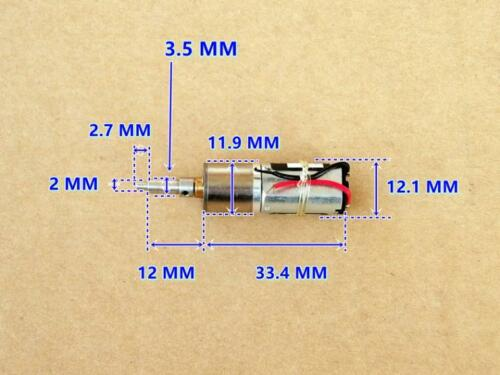SAYAMA DC 5V 6V 12V Mini 12MM Precision Metal Gearbox Reduction Gear Motor Robot