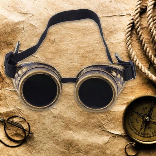 Cyber Goggles Steampunk Glasses Vintage Retro Welding Punk Gothic Victorian4RX 4