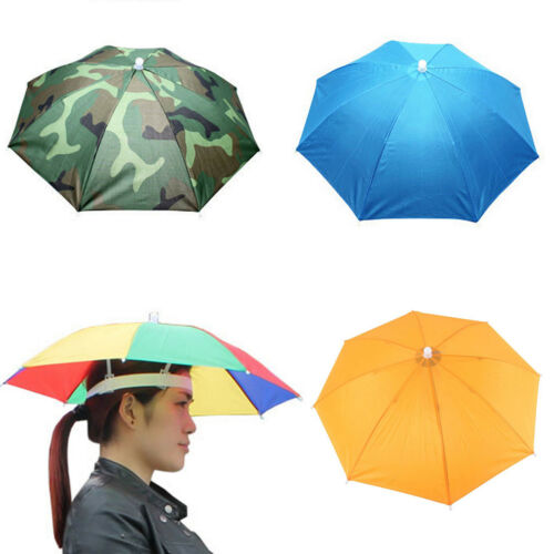 fa906f7e08c35 1PC Outdoor Foldable Sun Umbrella Hat Golf Fishing Camping Headwear Cap  Head Hat 2 2 of 7 ...