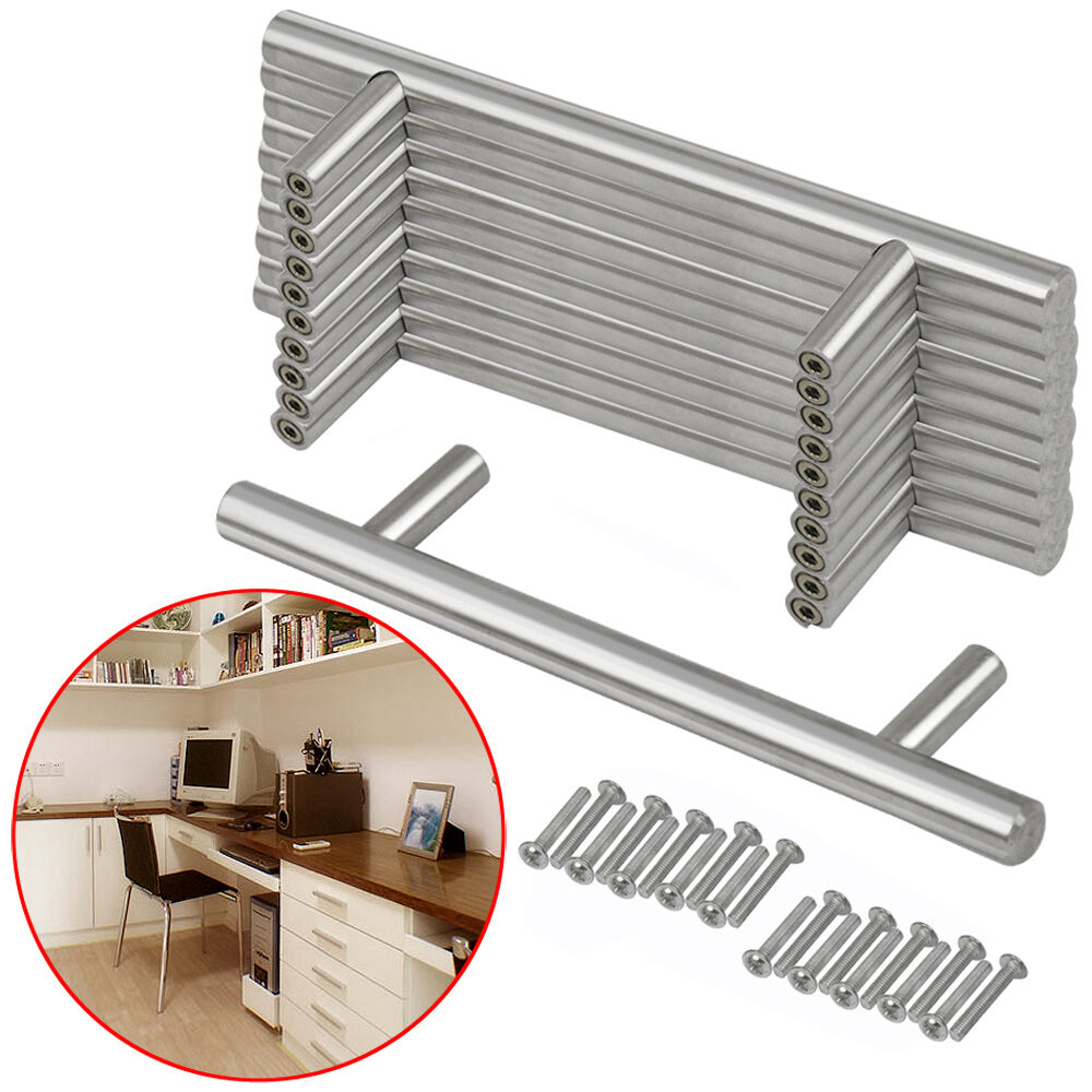 Kitchen Cupboard Door Handles Stainless Steel T Bar Modern Kitchen Cabinet Door Handles Drawer